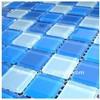 酒店游泳池蓝色水晶玻璃马赛克 水景观光池儿童池体育场所瓷砖