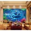 海洋主题酒店房间背景墙装饰艺术玻璃