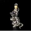 小老鼠造型玻璃酒瓶动物鼠型泡酒器创意玻璃工艺酒瓶白酒瓶